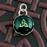 Celtic Knot Pendant Green Dichroic Glass and Silver - Sinclair Jewelry - 2
