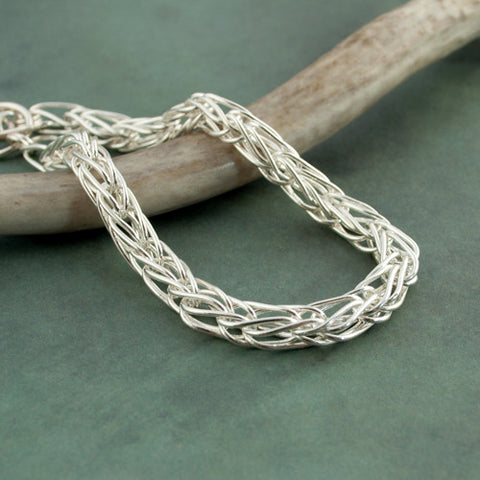 Doubled Chain Bracelet in Fine Silver - Sinclair Jewelry - 1