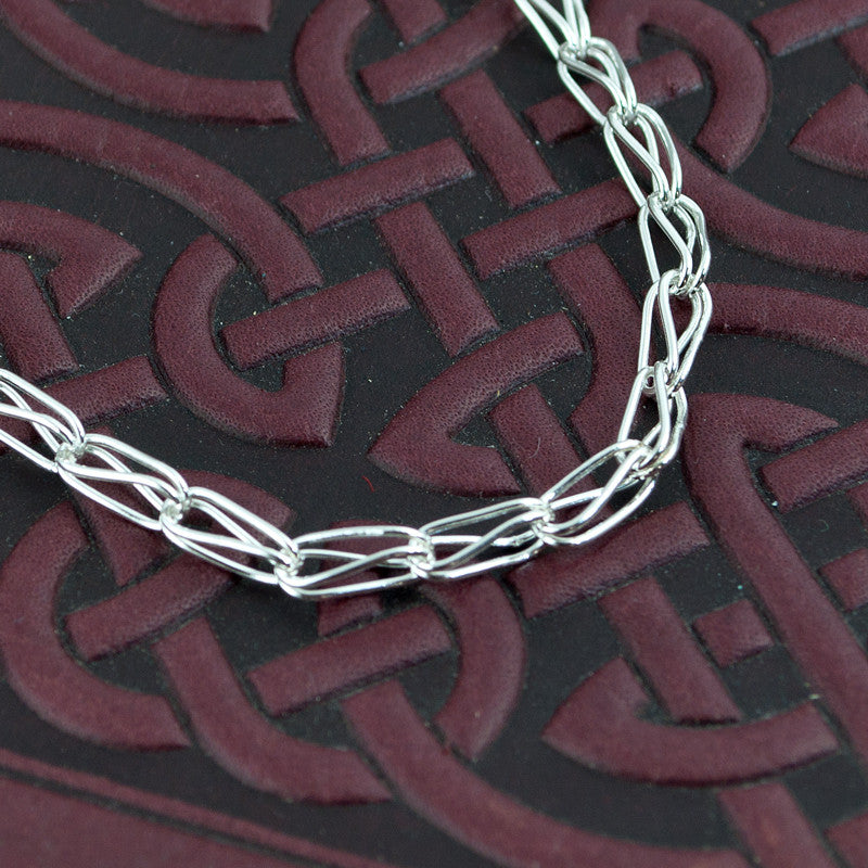 fine silver handmade chain necklace - Sinclair Jewelry - 1