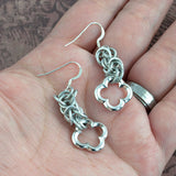 Aluminum Pewter Medieval Chainmaille Earrings - Sinclair Jewelry - 3