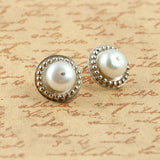 Venus Pearl Stud Earrings - Sinclair Jewelry - 4