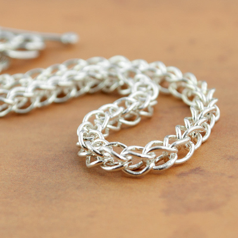 Classical Chain Bracelet in Fine Silver - Sinclair Jewelry - 1