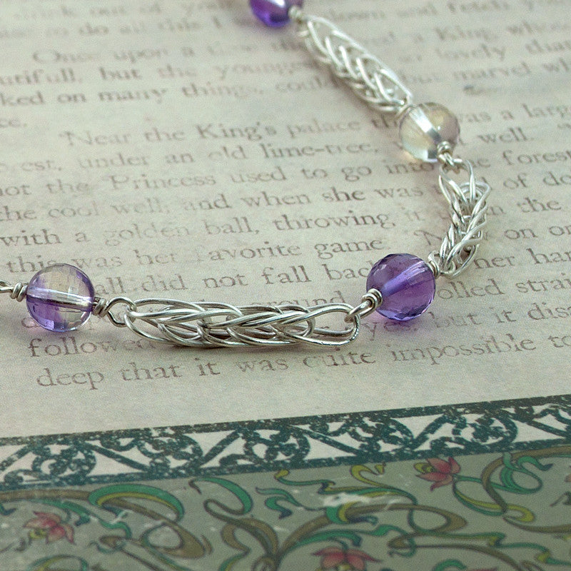 Ametrine and Fine Silver Station Necklace - Sinclair Jewelry - 2