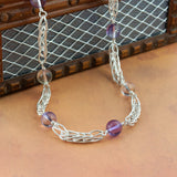 Ametrine and Fine Silver Station Necklace - Sinclair Jewelry - 5