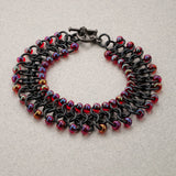 Red and Black Beaded Chainmaille Bracelet - Sinclair Jewelry - 3