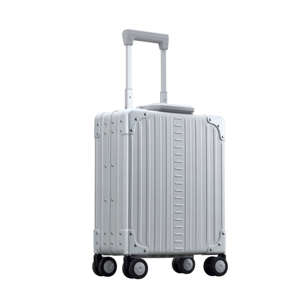 Wheeled aluminum briefcase