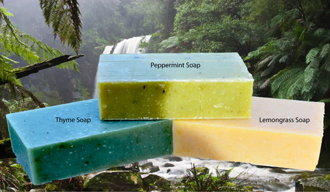 organic soap bar essential oils thyme lemongrass peppermint