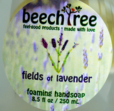 front label lavender hand soap