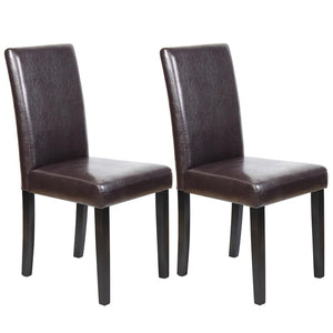 Jordaine Dining Chair (Set of 2) Brown