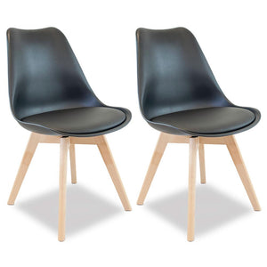 Charles Dining Chair (Set of 2) Black