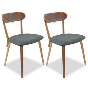 Reid Modern Dining Chair (Set of 2) Charcoal