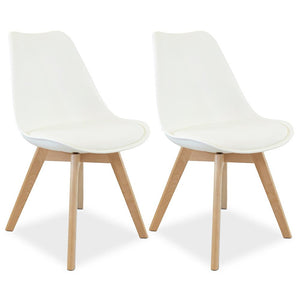 Charles Dining Chair (Set of 2) Off White