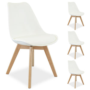 Charles Dining Chair (Set of 4) Off White