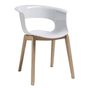 Alexis Natural Square Leg Dining Chair White