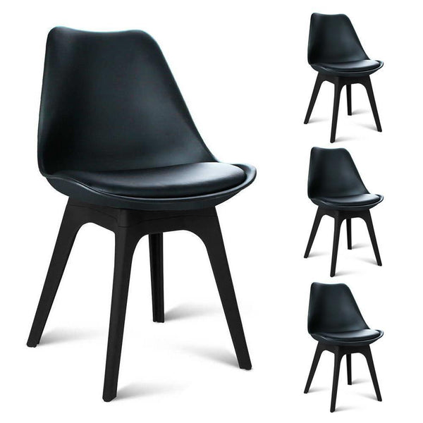 royce dining chair set of 4 black just dining chairs. Black Bedroom Furniture Sets. Home Design Ideas