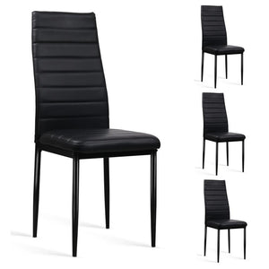 Alisha Dining Chair (Set of 4) Black