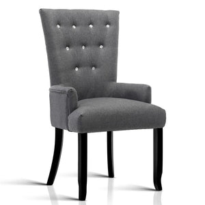 Marlyn French Dining Chair Grey