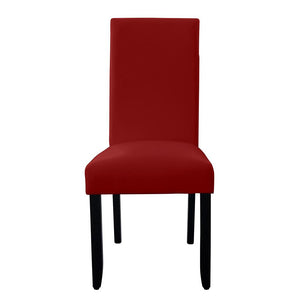 Porter Wenge Timber Leg Dining Chair Red