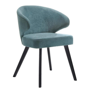 Charad Dining Chair Teal and Black