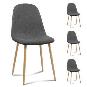 Andrew Dining Chairs (Set of 4) Dark Grey