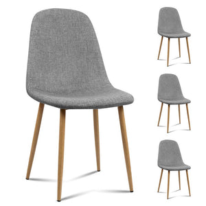 Andrew Dining Chairs (Set of 4) Light Grey