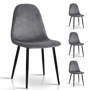 Mavry Dining Chairs (Set of 4) Dark Grey