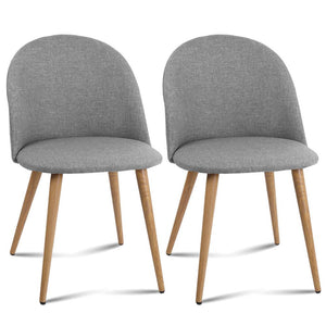 Llandel Dining Chair (Set of 2) Light Grey