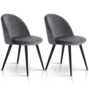 Allen Dining Chairs (Set of 2) Dark Grey