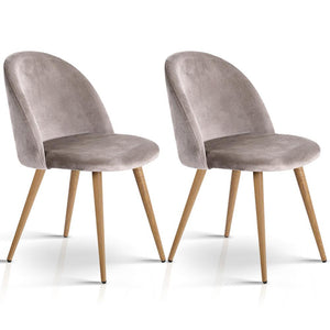 Allen Dining Chairs (Set of 2) Light Grey