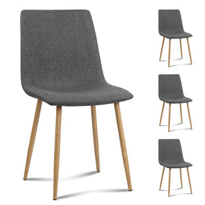 Kimberle Dining Chairs (Set of 4) Dark Grey