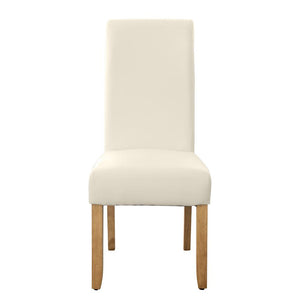 Seanna Blonde Timber Leg Dining Chair Ivory