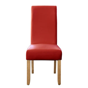 Seanna Blonde Timber Leg Dining Chair Red