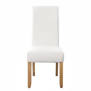 Seanna Blonde Timber Leg Dining Chair White