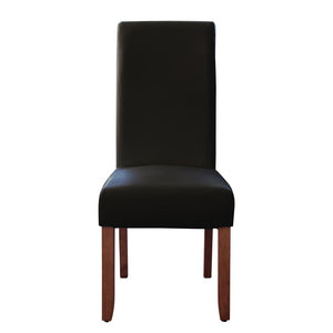 Seanna Chestnut Timber Leg Dining Chair Black