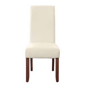 Seanna Chestnut Timber Leg Dining Chair Ivory