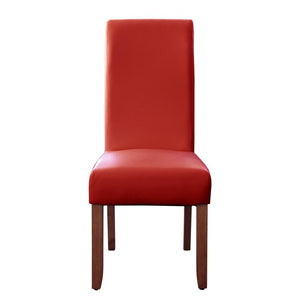 Seanna Chestnut Timber Leg Dining Chair Red