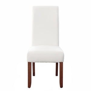 Seanna Chestnut Timber Leg Dining Chair White