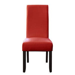Seanna Wenge Timber Leg Dining Chair Red