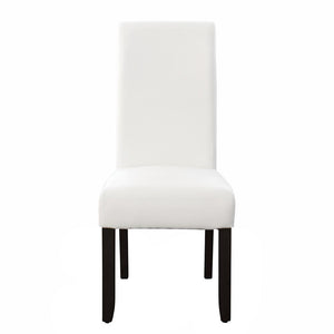 Seanna Wenge Timber Leg Dining Chair White