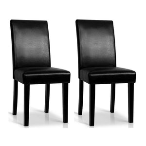 Rushing Dining Chair (Set of 2) PU Leather Black