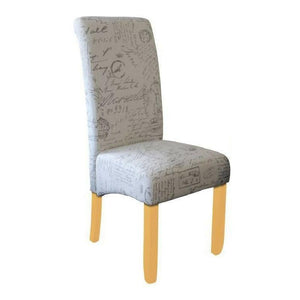 Seanna Blonde Timber Leg Dining Chair Script
