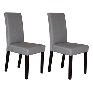 Trefry Fabric Dining Chair (Set of 2) Light Slate Grey
