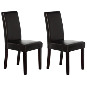Trefry Leather Dining Chair (Set of 2) Brown