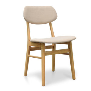Heather Fabric Dining Chair Beige
