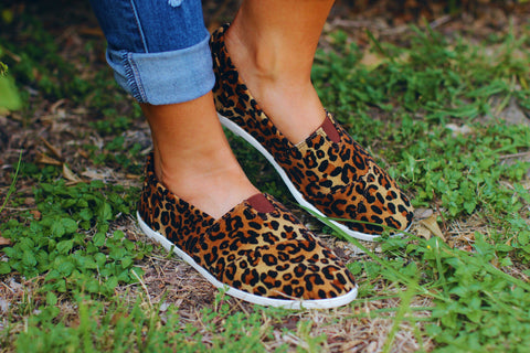 Walk On The Wild Side Leopard Print Slip-Ons Shoes