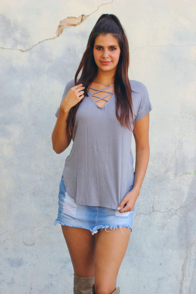 Grayson Criss Cross Front Top