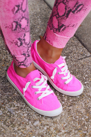 Pink Bliss Neon Pink Sneakers