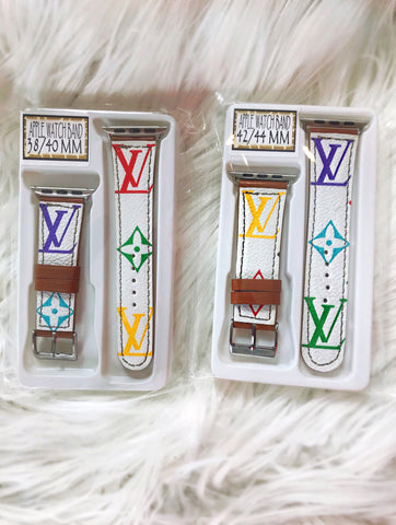LV Multicolor Apple Watch Bands