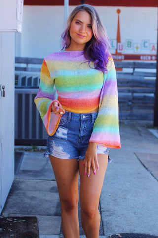 Desiree Multicolor Tie Knit Top
