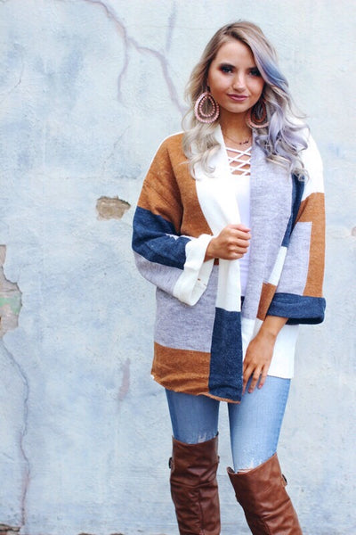 Kelly Multi Colorblock Cardigan